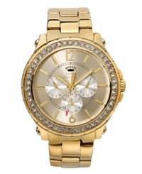 Juicy Couture Women's Pedigree Gold Tone Stainless Steel Bracelet Watch 42Mm 1901082