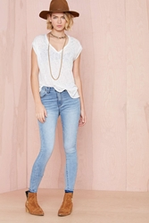Nasty Gal Blue Skies Skinny Jeans