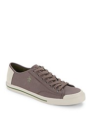 Penguin Lace Up Fabric Sneakers Grey