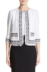 St. John Women's Collection Fringe Clair Knit Jacket