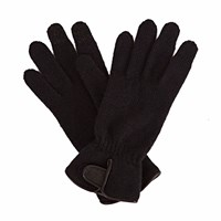 Gizelle Renee Sandy Sue Womens Black Wool Gloves With Black Forest Tweed