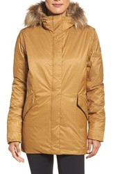 Helly Hansen Women's Hilton Waterproof Parka With Faux Fur Trim Brunette Brown