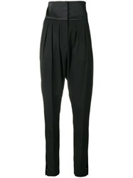 Lanvin High Waist Tailored Trousers Black