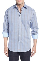 Thomas Dean Men's Classic Fit Two Tone Microcheck Sport Shirt