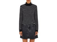 Re Done Women's Striped Cotton Blend Mock Turtleneck Sweater No Color