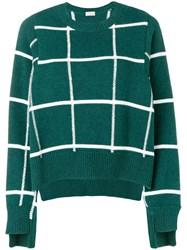 Mrz Grid Patterned Sweater Green