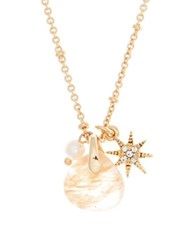 Lonna And Lilly 4Mm Faux Pearl Semi Precious Reconstituted June Birthstone Charm Necklace White