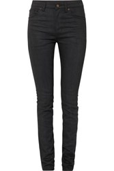 Saint Laurent High Rise Skinny Jeans Black