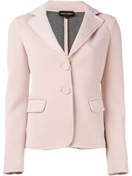 Emporio Armani Classic Blazer Pink And Purple