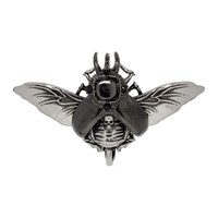 Alexander Mcqueen Silver Flying Beetle Earring