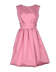 Io Couture Knee Length Dresses Pink