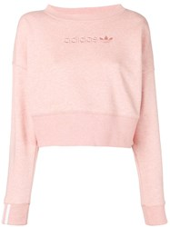 Adidas Embroidered Logo Sweatshirt Pink