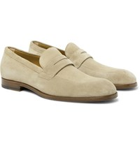 Hugo Boss Brighton Suede Penny Loafers Neutrals