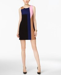 Inc International Concepts Petite Colorblocked Shift Dress Only At Macy's Structured Colorblock