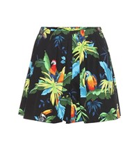 Marc Jacobs Printed Stretch Cotton Shorts Multicoloured