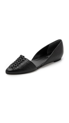 Belle By Sigerson Morrison Veda Woven Flats Nero