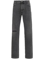 Balenciaga Black Knee Hole Jeans Grey