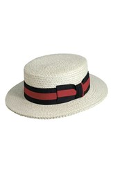Men's Scala Straw Boater Hat