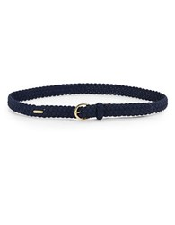 Lauren Ralph Lauren Braided Stretch Belt Navy Blue