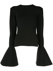 Solace London Moritz Bell Cuff Sweater Black