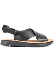 Camper Crossover Sandals Black
