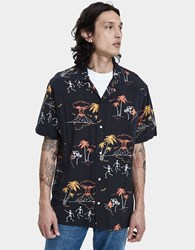 Insight Doomsday Resort Button Up Shirt In Black