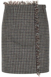 Acne Studios Checked Wool Tweed Mini Skirt