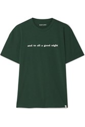 Sleepy Jones Jackson Printed Cotton Jersey T Shirt Forest Green