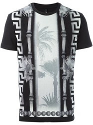 Versus Tropical Print T Shirt Black