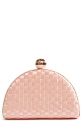 Ted Baker London Woven Dome Clutch Pink Pale Pink