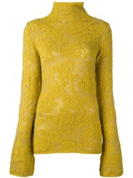 Etro Turtleneck Jumper Yellow And Orange