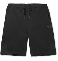 Y 3 Loopback Cotton Jersey Shorts Black