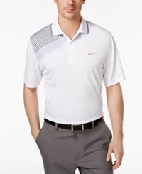 Greg Norman For Tasso Elba Men's Striped Golf Polo Only At Macy's Bright White