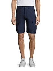 North Sails Howard Cotton Blend Cargo Shorts Navy