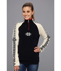 Dale Of Norway Geilo Feminine C Navy Off White Raspberry Women's Long Sleeve Pullover Multi