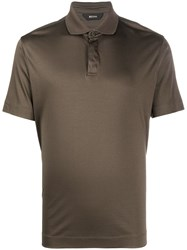 Z Zegna Concealed Front Polo Shirt 60