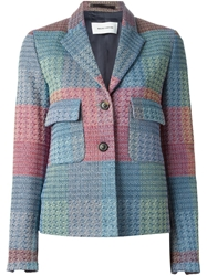 Mauro Grifoni Single Breasted Tweed Blazer