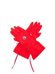 Raf Simons Apollo Print Poplin Gloves Red