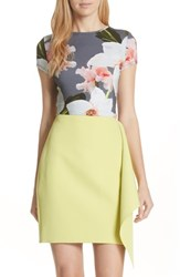 Ted Baker 'S London Chatsworth Bloom Fitted Tee Grey