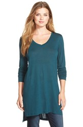 Women's Halogen Long Sleeve Tunic Green Ponderosa