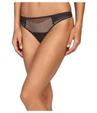 Ongossamer Twilight Thong G2105 Charcoal Women's Underwear Gray