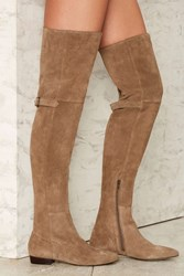 Matisse Ashley Over The Knee Suede Boot Taupe 73000