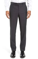 Ted Baker Men's London Jefferson Flat Front Solid Wool Trousers