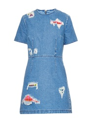 House Of Holland Distressed Denim Dress
