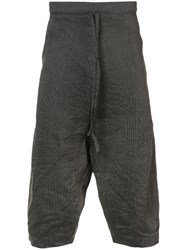 Forme D'expression Cropped Loose Fitted Trousers Grey
