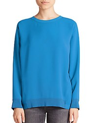 Vince Inverted Pleat Blouse Teal