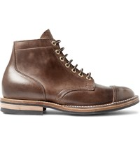 Viberg Leather Service Boots Brown