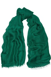 Jil Sander Cashmere And Silk Blend Voile Scarf Green