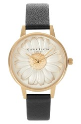 Women's Olivia Burton 'Flower Show' Leather Strap Watch 30Mm