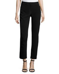 Tahari By Arthur S. Levine Drapey Twill Suiting Pants Black